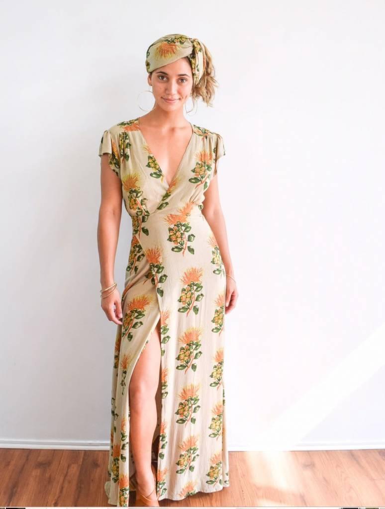 Radha Wrap Dress Lehua Taupe