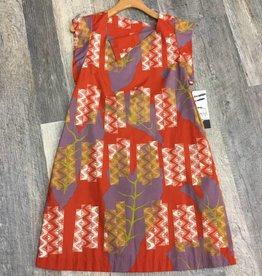 Tutuvi Flared Dress Kalo/Kapa Rust