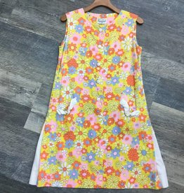 """Polynesian Casuals 1960'S Yellow """"Scooter"""" Dress"""