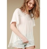 Pol Ivory Embroidered Top