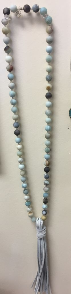 Southern Beads Co Natural Bead Tassel Necklace