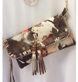Sondra Roberts Handbag, Clutch Quilted Floral Print