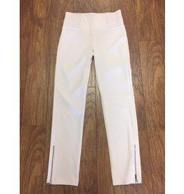 Simply Noelle White Ponte Pant w/Zipper