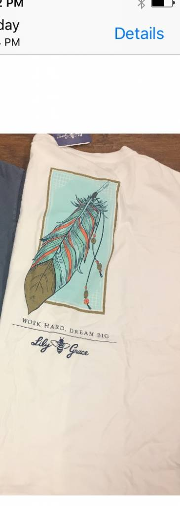 Lilly Grace Work Hard Tee White