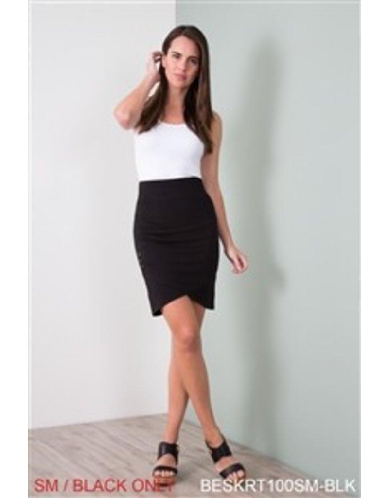 Simply Noelle Black Crossover Grommet Skirt