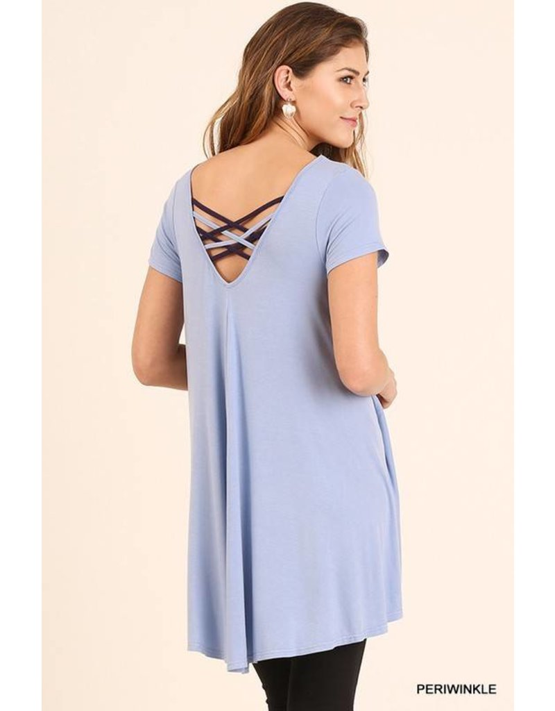 Umgee Periwinkle Back Detail Tunic