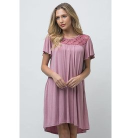 Andree Wash Dye Dress Mauve