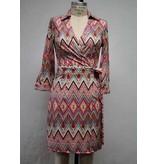 Aryeh Red/Bk Tie Dress