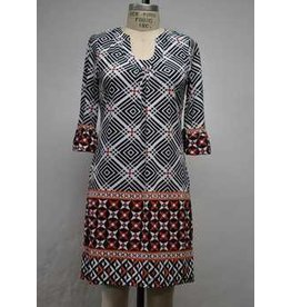 Aryeh Geo Bk/Orange Dress