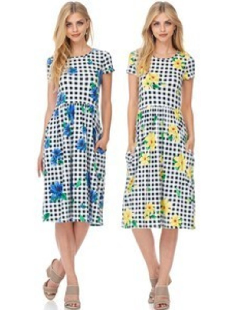 ReBorn Blue Gigham Dress