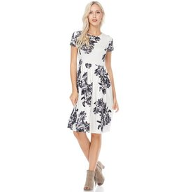 ReBorn Ivory/Gray Floral Dress
