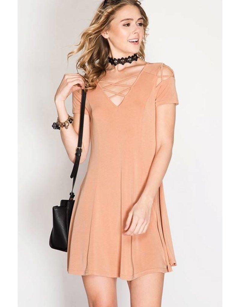 La Vida Dusty Rose Dress