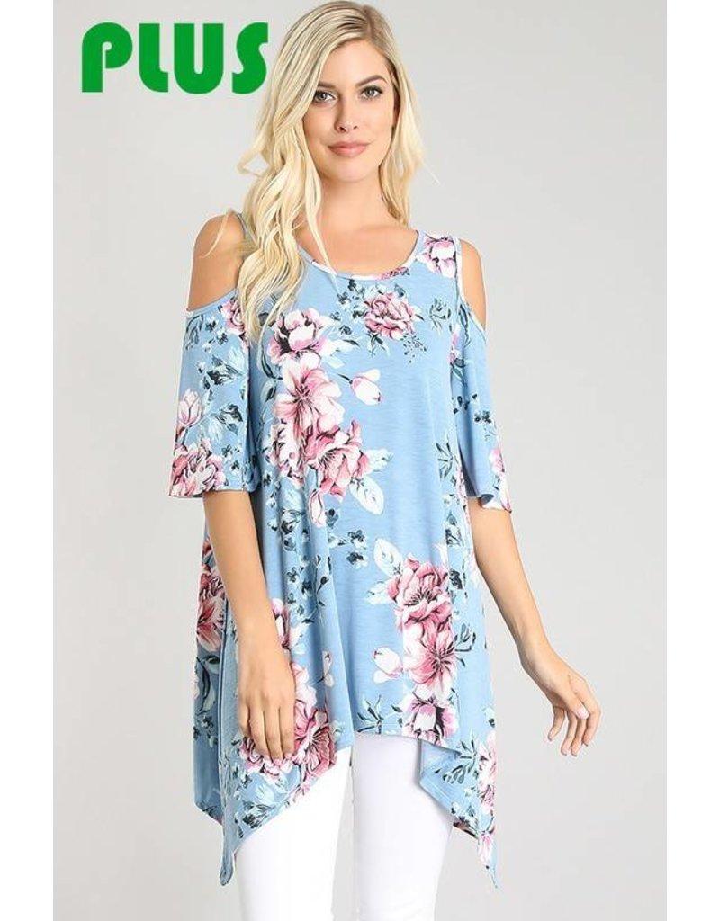 La Vida Blue Floral Tunic