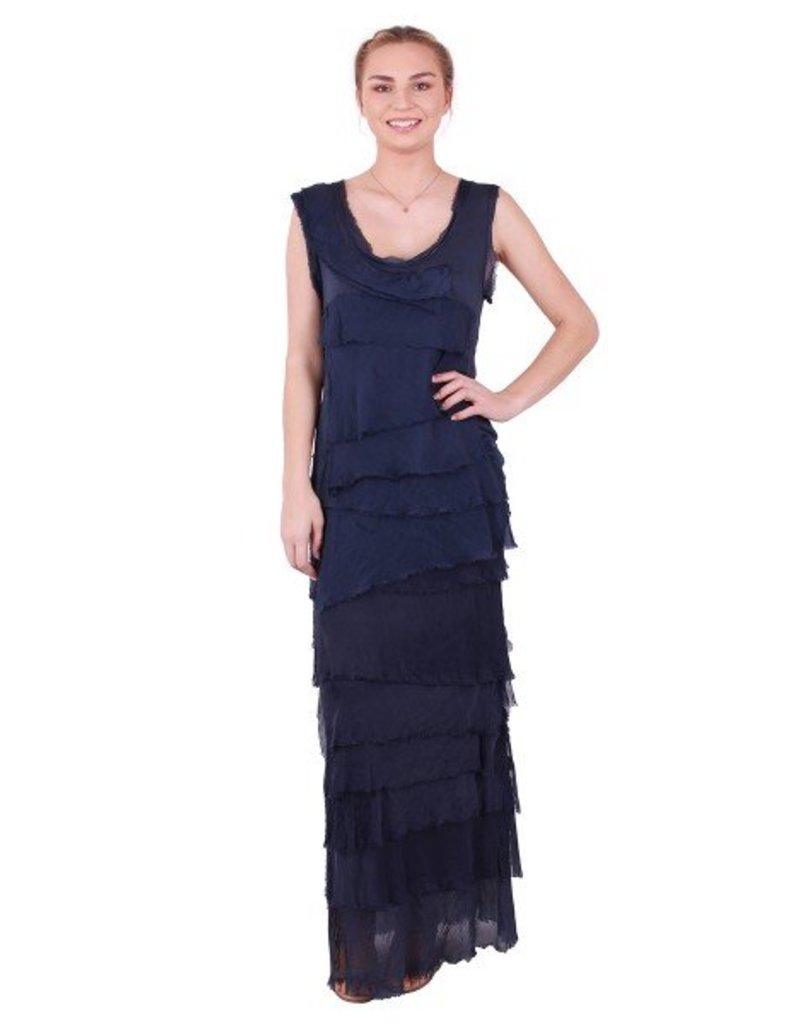 GiGi Moda Silk Ruffle Top One Size