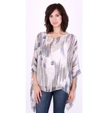 GiGi Moda Silk Striped Top
