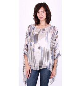 GiGi Moda Silk Striped Top