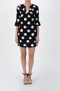 Aryeh Knit Dress Black/White