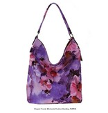 Large Purple Flower Handbag