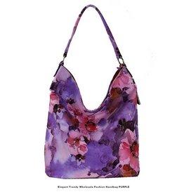 Large Purple Flower Handbag