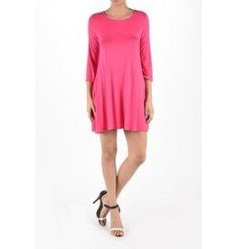 Aryeh Pink Round Neck Tunic