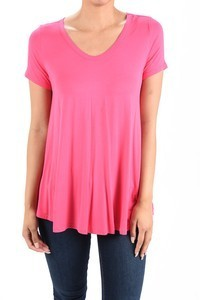 Aryeh Pink V-Neck T Shirt