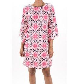 Aryeh Pink Printed Shift Dress