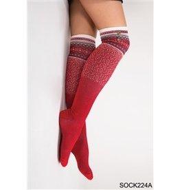 Simply Noelle Ski Lodge Tall Sock