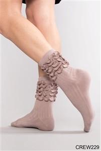 Simply Noelle Ruffle Crew Sock