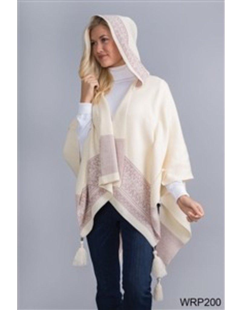 Simply Noelle Hooded Tassel Wrap