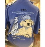 Lilly Grace Blue & White Attitude Tee