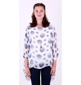 GiGi Moda Silk Dot Print Kaftan