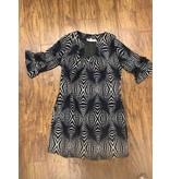 Aryeh Knit Dress Navy/Cream