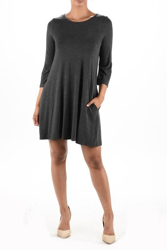 Aryeh Swing Dress/Gray