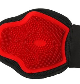 Shires Grooming Massage Mitt Black/Red