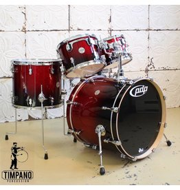 Pacific Pacific PDP Concept Maple drumset Red Sparkle Fade 22-10-12-16in + 14X5.5in snare and tom holder