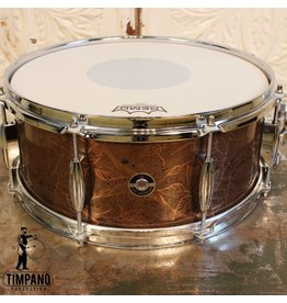 Q Drum Company Caisse claire Q Drum Copper Rose Artwork Patina 14X6po