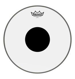 Remo Peau Remo Controlled Sound Clear Top Black Dot 13po