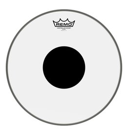 Remo Peau Remo Controlled Sound Top Black Dot Clear 13po