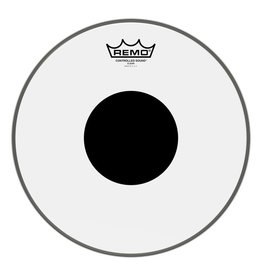 Remo Peau Remo Controlled Sound Clear Top Black Dot 12po