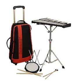 Ludwig Ludwig Glockenspiel and pratice pad kit with carrying bag on wheels L652RBR