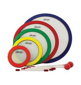 """Remo Remo Sound Shapes Circle Pack 6""""/8.25""""/10.5""""/12.75""""/15"""" 5 Pc. Random Colors"""
