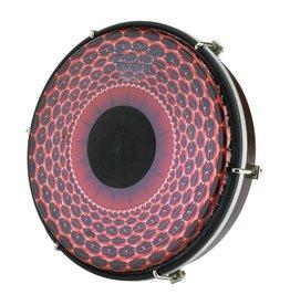 Remo Tambour sur cadre Remo Tablatone Red Radial Flare 2X8po