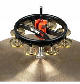 Rhythm Tech Tambourine en laiton avec attache pour hi-hat Rhythm Tech