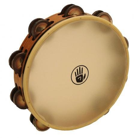 Black Swamp Percussion Tambourine avec peau Black Swamp SoundArt frène/chromium 25 10po