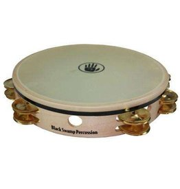 Black Swamp Percussion Tambourine avec peau Black Swamp Overture érable/laiton 10po