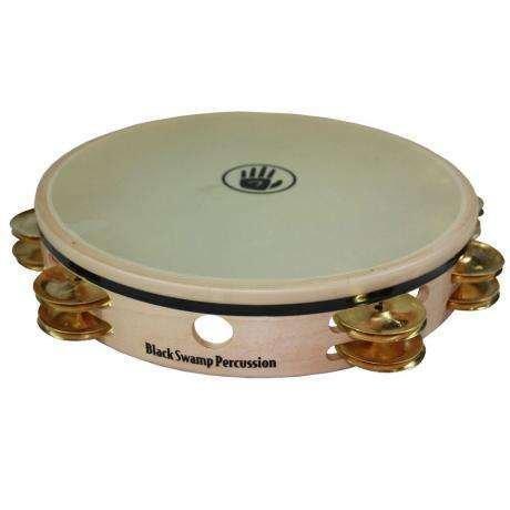 Black Swamp Percussion Tambourine avec peau Black Swamp Overture érable/laiton 10po