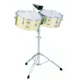 Latin Percussion LP Matador Brass Timbales 14in & 15in