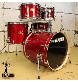 Yamaha Batterie Yamaha Stage Custom Cranberry Red 20-10-12-14po + caisse claire 14po