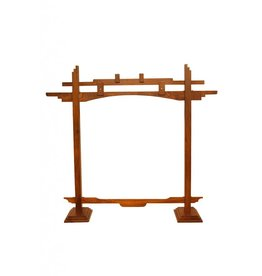 Mid-East Mid East Wooden Gong Stand 22in