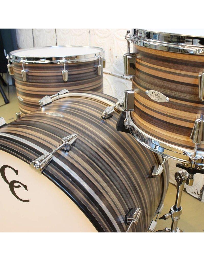 C&C Drum Company Batterie C&C Gladstone Pro Beat Two Tone Butcher Block